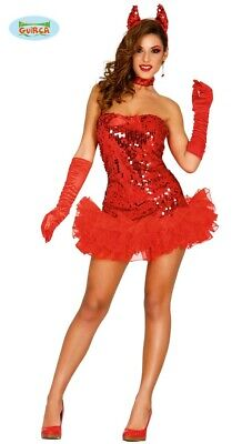 sexy Teufelin im Paillettenkleid - Kostüm für Damen Halloween Horror Gr. XS/S -