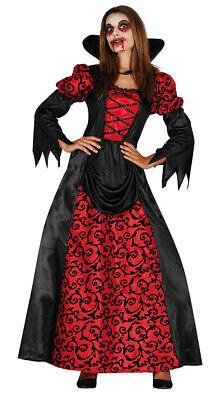 Vampir Herrscherin Kostüm für Damen Halloween Horror Blut Vampir Rot Gr. M - XL