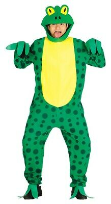 Mens Ladies Green Frog Animal Festival World Book Day Fancy Dress Costume - World Kostüm Festival