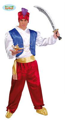 Costume Carnevale Aladino Genio della Lampada Carnevale Uomo Nuovo