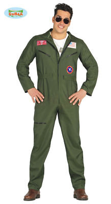 GUIRCA Costume pilota aereo CACCIA Top Gun aviatore carnevale uomo TG. XL
