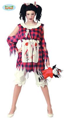 GUIRCA Costume vestito bambola di pezza diabolica halloween donna  mod. 80678 ()