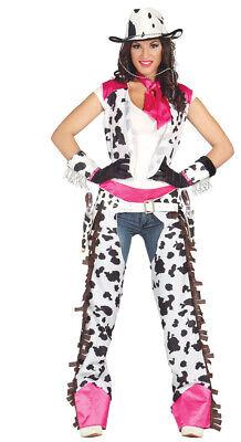 Rodeo Cowgirl - Kostüm für Damen Karneval Fasching Wilder Westen Western Gr. M - Wilder Westen Damen Kostüm