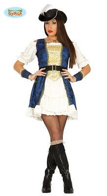 Deluxe Piratin Kleid Kostüm für Damen Piraten Kapitänin Karneval ()
