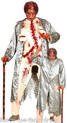 Mens Zombie Flasher Granny Halloween Stag Do Fancy Dress Costume Outfit - Halloween Flasher Kostüm