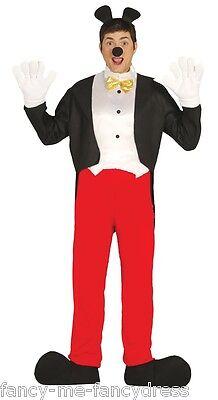 Herren Mickey Mouse Halloween Buch Tag Kostüm Verkleidung - Herren Mouse Kostüme
