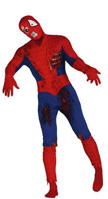 Adulto Zombie Superhéroe Hombre Spiderman Traje Disfraz Talla L