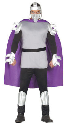 Shredder Adult Fancy Dress Costume Ninja Halloween Turtle Outfit Unisex - Shredder Costumes
