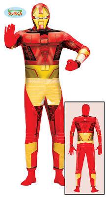 Bionischer Superheld Kostüm für Herren Super Held Karneval Fasching Hero Gr. (Helden Kostüm Für Herren)
