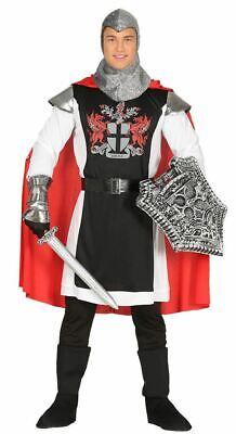 Mens Medieval Knight Crusader Warrior King Arthur Fancy Dress Costume - Medieval Warrior King Kostüm