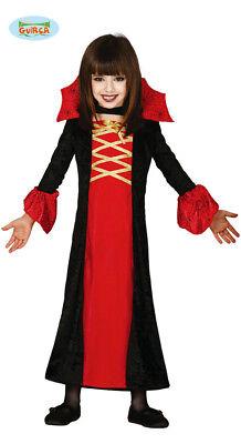 Guirca Vampir Kostüm für Mädchen Gräfin Dracula Halloween