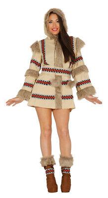 sexy Eskimokostüm mit Fell Damenkostüm Alaska Island Eskimo - Eskimo Kostüme Damen
