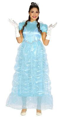 Prinzessin Kostüm für Damen blau lang Eis Karneval - Prinzessin Kostüme Für Damen