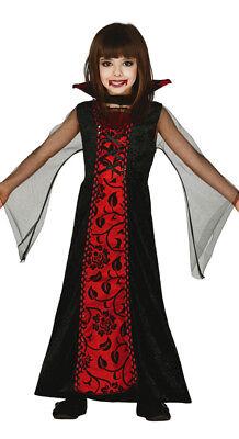 Mädchen Vampir Gräfin Kostüm Halloween Gothic Kostüm Outfit Alter 3-12 - Viktorianisches Gothic Mädchen Kostüm Halloween