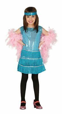 Girls 1920s Blue Charleston Flapper Great Gatsby Fancy Dress Costume Book - Great Gatsby Girl Kostüm