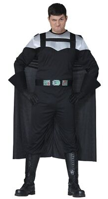 Mens Darth Costume Adult Sci Fi Cosplay Halloween Fancy Dress Outfit Sizes M/L