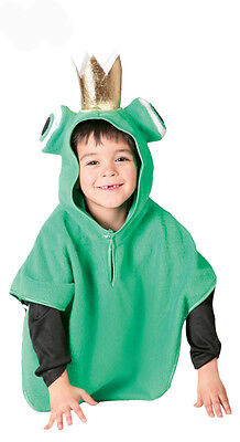 Kids Frog Costume Fairy Tale Boys Girls Fancy Dress Frog Prince Outfit Age 3-6 (Frog Prince Costume)