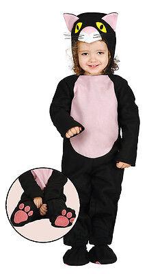 Baby Kleinkind Süß Schwarze Katze Halloween Kinder Maskenkostüm Hexen (Baby Halloween Kostüme Schwarze Katze)