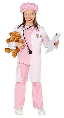 Girls Pink Vet Uniform Veterinary Surgeon TV Fancy Dress Costume Outfit 3-9 yrs - Veterinary Costume