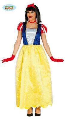 Langes Schneewittchen Kleid Karneval Fasching Party Kostüm für Damen - Märchen Kostüm Für Damen