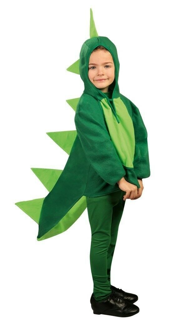 costume da DINOSAURO VERDE per bambini CARNEVALE travestimento TAGLIE VARIE