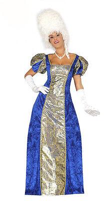 Damen Blau Georgianisches Versailles Kostüm Halbschuhe Ballkleid VERKLEIDUNG M M