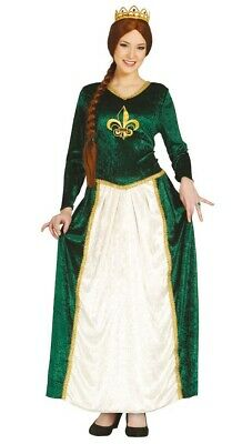 grünes Prinzessin Burgfräulein Karneval Fasching Kostüm für Damen - Prinzessin Kostüme Für Damen
