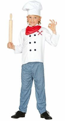 Boys Girls Childrens Chef Cook Fancy Dress Costume Role Play Book Day - Chef Costumes