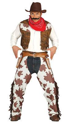 Cowboykostüm Kostüm für Herren Karneval Fasching Revolverheld Western (Helden Kostüm Für Herren)