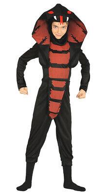 Cobra Ninja Kostüm für Kinder Halloween Kämpfer Schlange - Schlange Kostüme