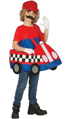 Mädchen Jungen Mario Kart Cartoon Welttag des Buches Kostüm Kleid Outfit - Mario Mädchen Kleid Kostüm