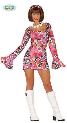 GUIRCA Costume vestito disco Night anni '70/80 Dance carnevale donna TG. M