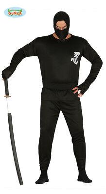 Schwarzes klassisches Ninja Kostüm Schattenkämpfer Herren one - Klassische Ninja Kostüm