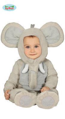 Costume Elefante TAGLIA 12/24 MESI Carnevale Bebè Bambino Neonato Nuovo