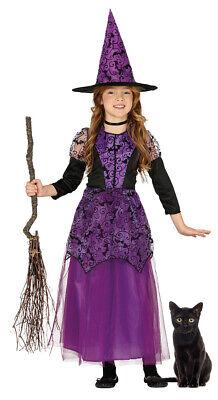 Mädchen Kleine Lila Hexe Kostüm Kinder Halloween Kostüm Kinder Hexen Outfit