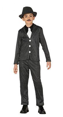 Gangster Mafia Anzug für Jungen 20er Jahre Motto Party Kostüm Gr. 110-146