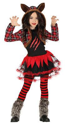 Mädchen Werwolf Kostüm Halloween Kostüm Wildes Tier Outfit Alter 7-12 Neu ()