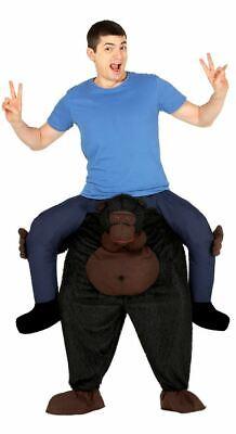 Mens Adult Ride On Piggy Back Gorilla Monkey Fancy Dress Costume Stag Outfit - Gorilla Kostüm Piggy Back