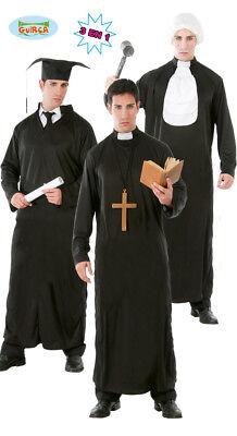 Student Priester Richter Kostüm Set für Herren Karneval Fasching - Studenten Kostüm