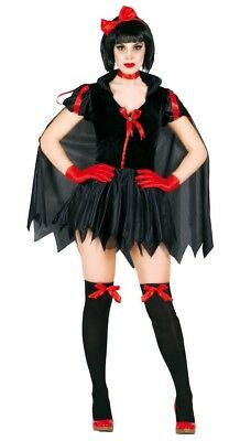 te Costume Halloween Fancy Dress Fairytale Princess Outfit (Dark Snow White Kostüm)