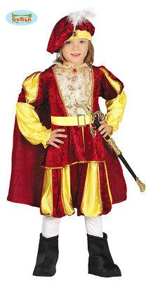 Costume Principe TAGLIA 3/4 ANNI Carnevale Bambino Principino Re Teatro Nuovo