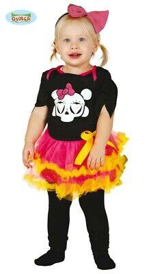 Baby Skelett Kostüm für Mädchen Halloween Horror Fasching Totenkopf Gr. 86-104