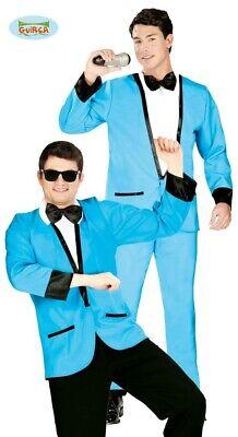 blauer Disco Anzug 50er 60er Jahre Party Kostüm für Herren blau Gr. M/L