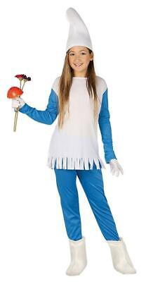 Girls Dwarf Gnome Smurf Fancy Dress Costume Childrens Outfit ()