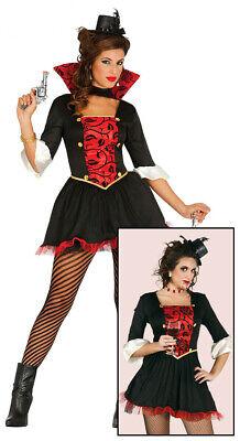 sexy Vampir Lady Halloween Horror Party Kostüm für Damen Blut kurzes Kleid Gr. M