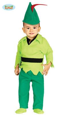 GUIRCA Costume peter pan baby arciere carnevale bambino mod. 8597_ (Baby Peter Pan Kostüm)