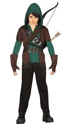 Jungen Mittelalterlich Bogenschütze Robin Hood Buch Tag Halloween Kostüm Outfit