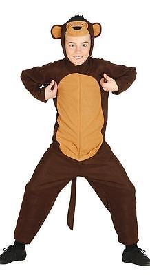 Boys Girls Kids Monkey Costume Fancy Dress Ape Chimp Outfit NEW AGE - Kid Monkey Kostüm