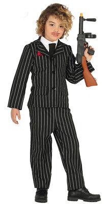 Gangster Mafia Anzug Karneval 20er Jahre Motto Party Kostüm für Jungen Gr. 110-1