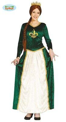 Grüne Prinzessin Burgfräulein Fiona Karneval Fasching Kostüm für - Prinzessin Kostüm Für Damen